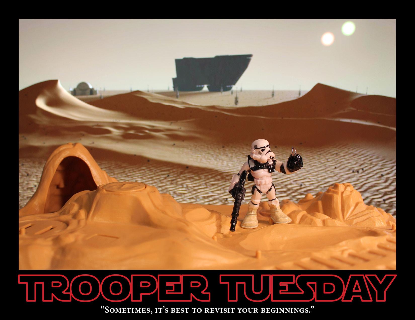 Sandy's back on Tatooine.