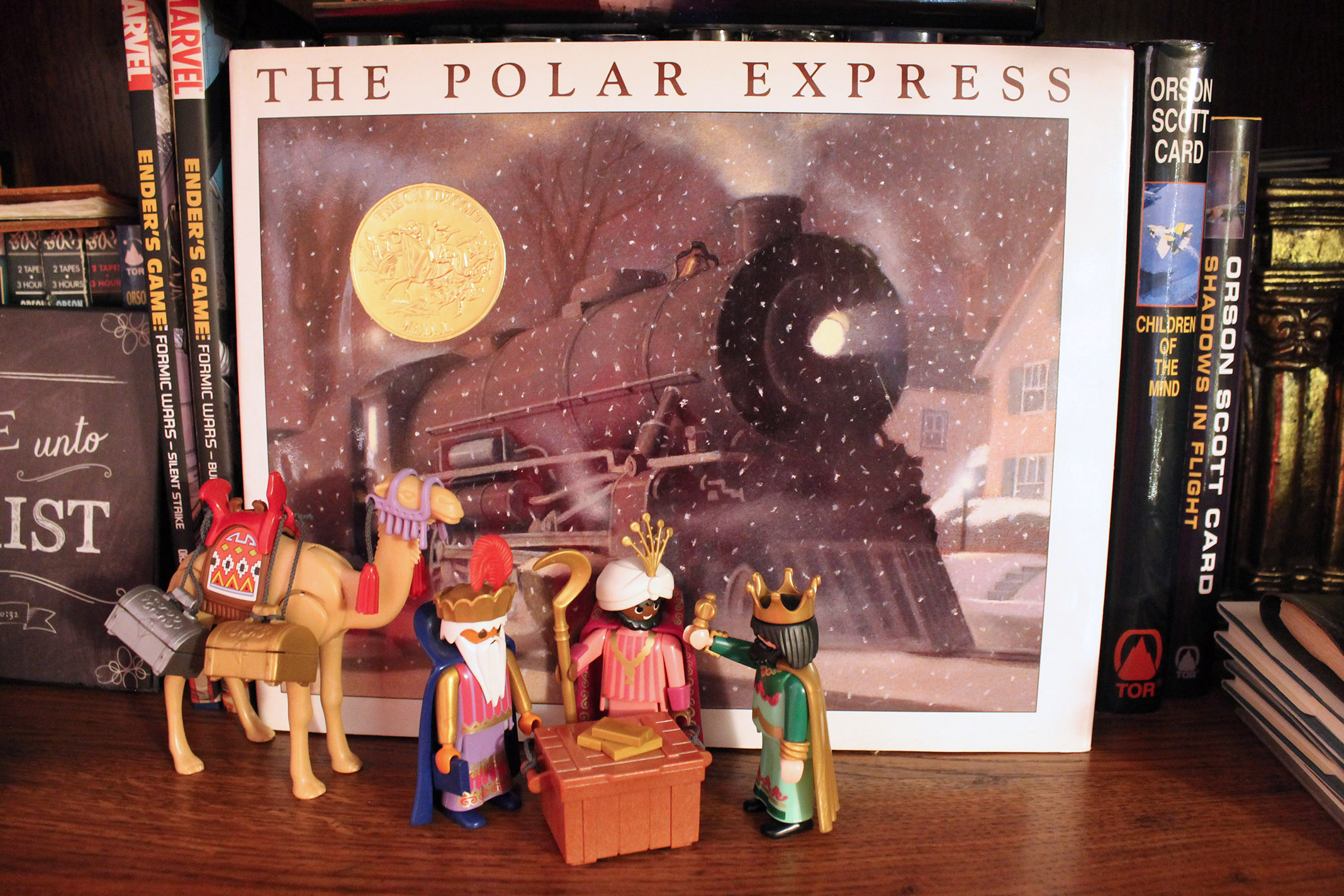 The three wisemen gain access to golden tickets for the Polar Express.