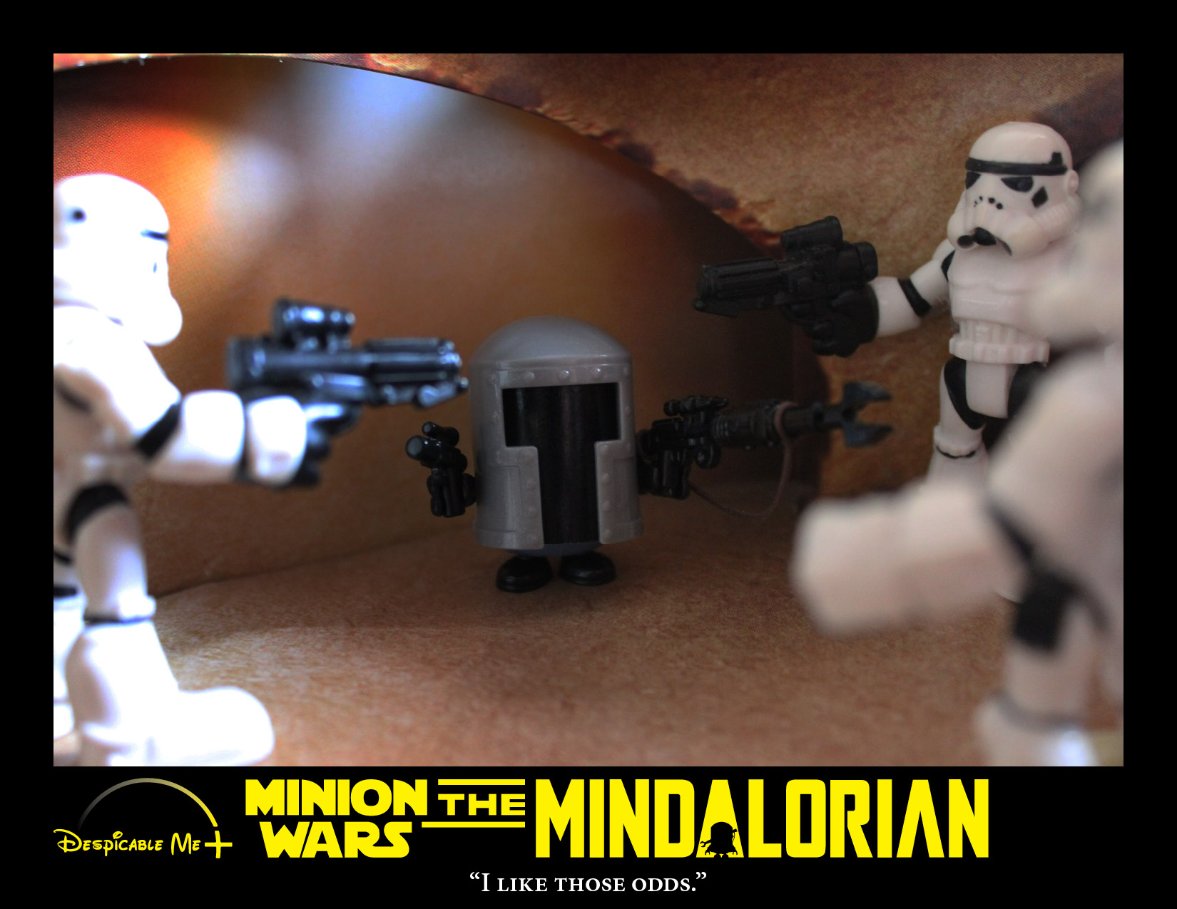 The Mindalorian squares off against Stormtroopers.
