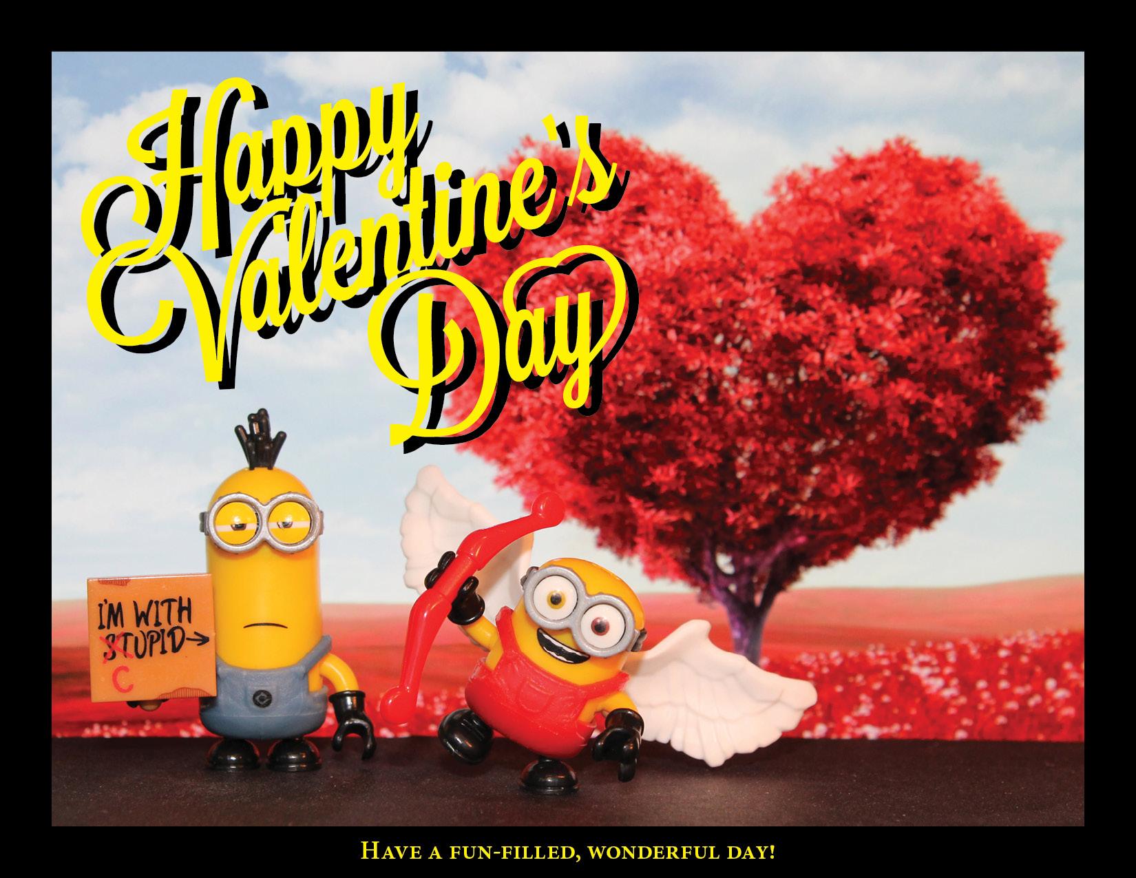 Minion Valentine's Day.