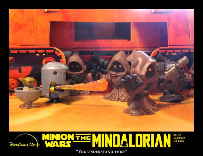 The Mindalorian negotiates with the Jawas.