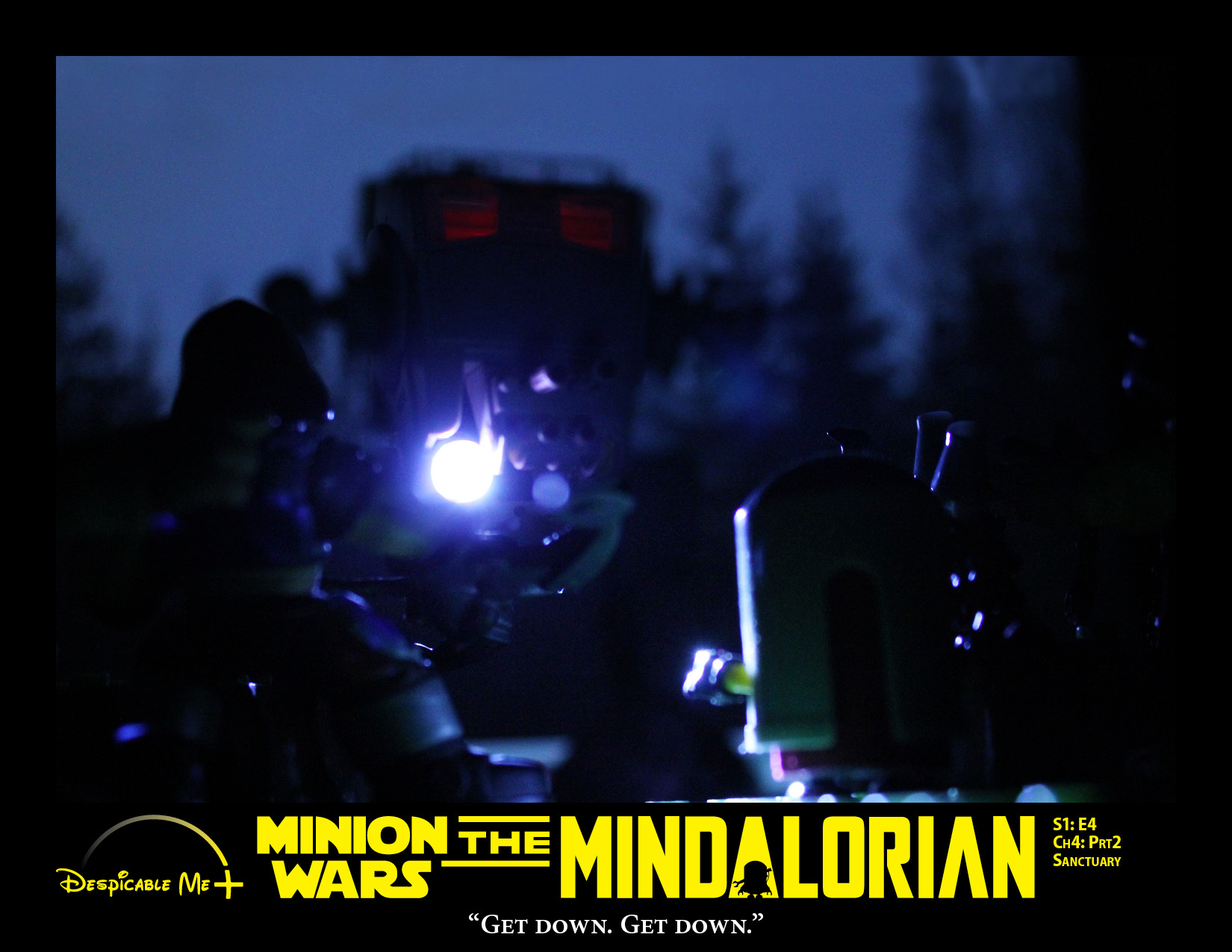 The Mindalorian and Cara Dune are spotted by the AT-ST.