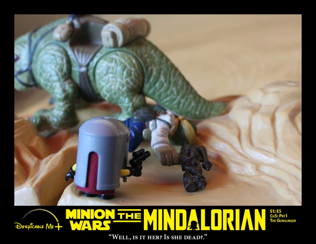 The Mindalorian assesses a dewback and rider.