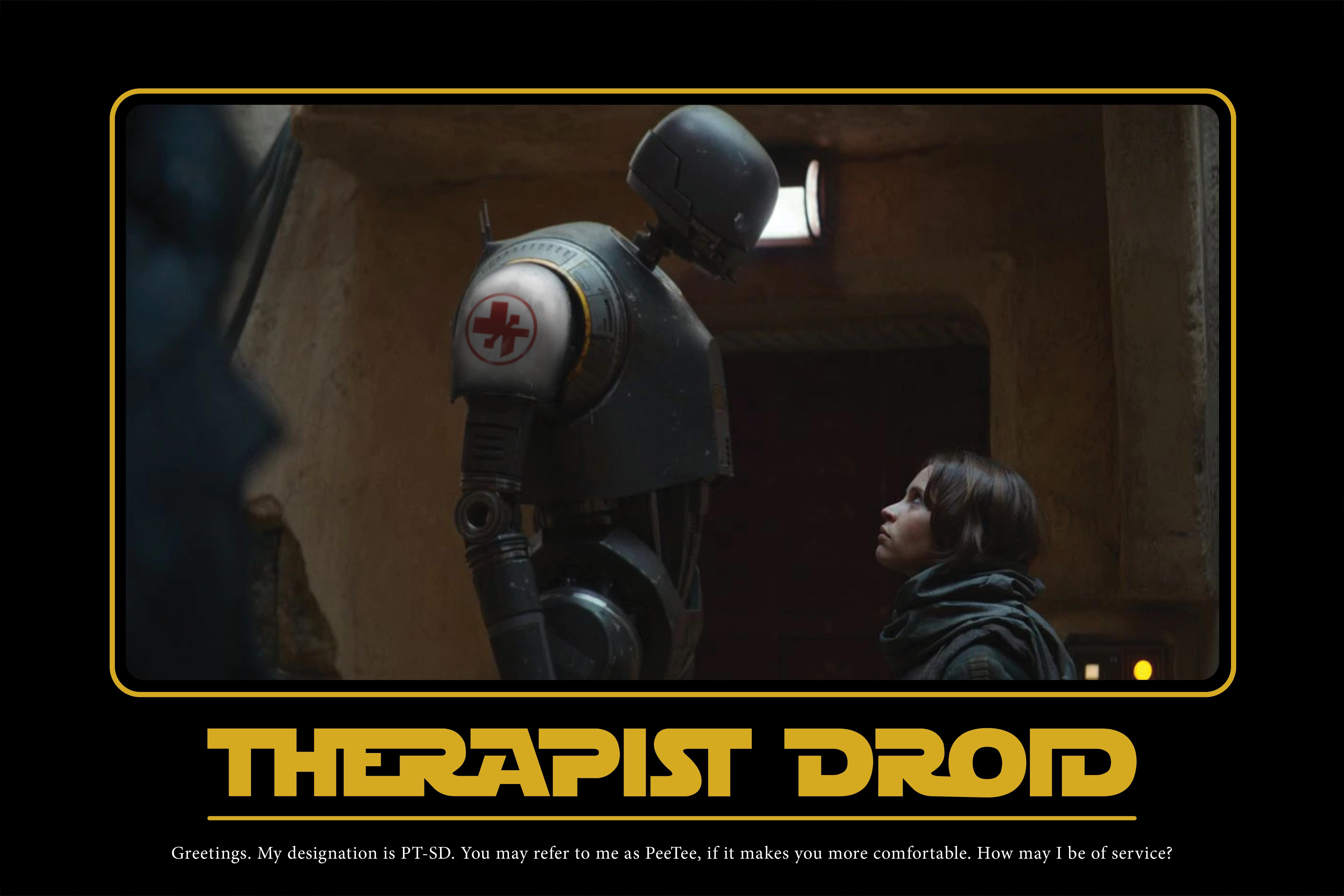 A Star Wars motifake poster starring PT-SD.