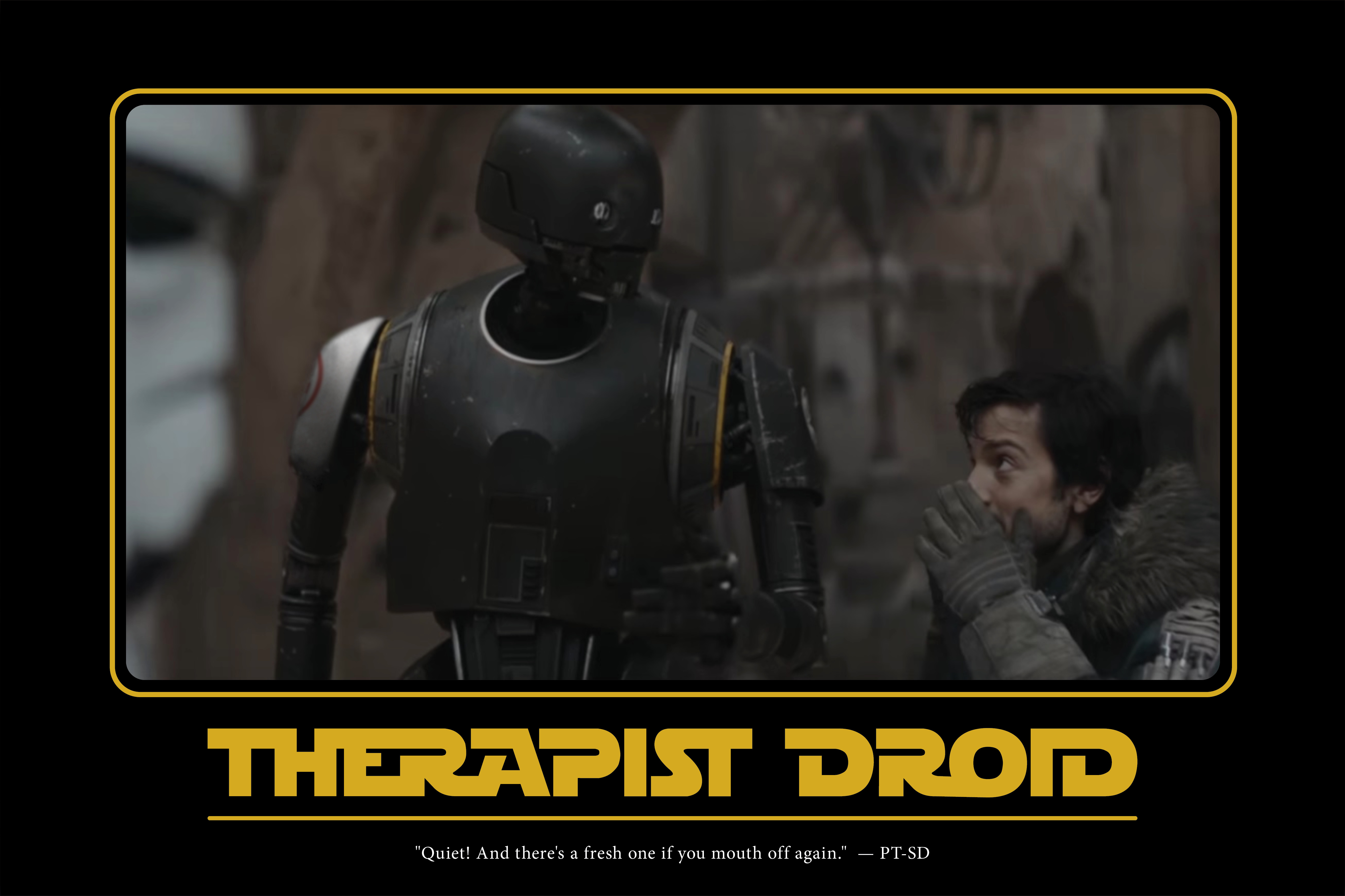 PT-SD assists in another fine therapy session.